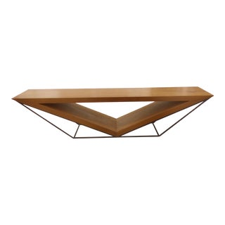 Leonardo Bueno Brazilian Imbuia Wood Sculptural Bench