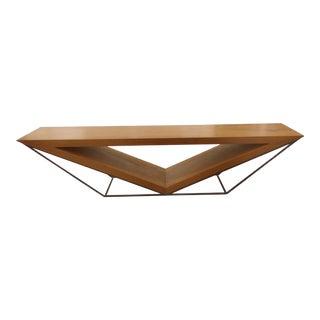 Leonardo Bueno Brazilian Imbuia Wood Sculptural Bench