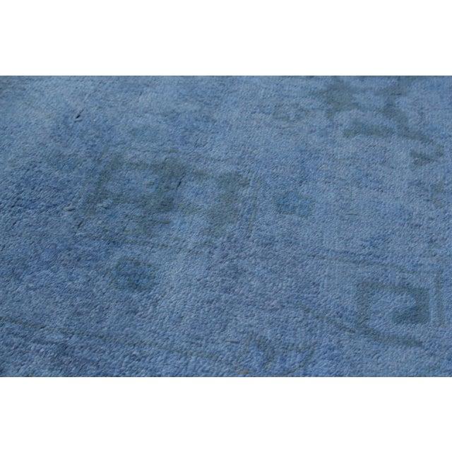 """Blue Vintage Turkish Overdyed Rug - 6'1"""" X 9' - Image 2 of 2"""