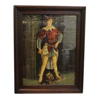 Antique David & Goliath Painting