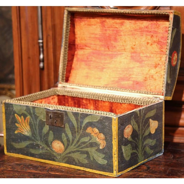 18th Century French Hand Painted Floral Wedding Box - Image 3 of 9