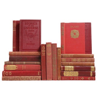 Pocket-Sized Red Mixed Books - Set of 20