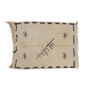 Vintage Moroccan Beni Ourain Rug - 5′4″ × 7′8″