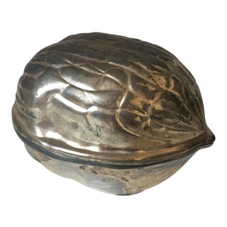 "Silverplate ""Walnut"" Lidded Box"