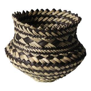 Black & Natural Boho Basket