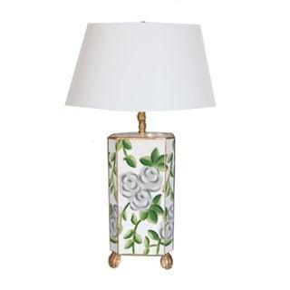 Dana Gibson White Floral Chintz Lamp