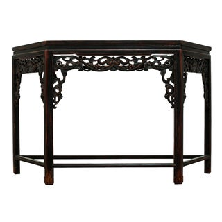 Sarreid LTD Asian Carved Wood Console Table