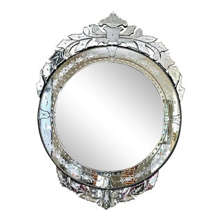 Extra Large Etched Venetian Style Mirror