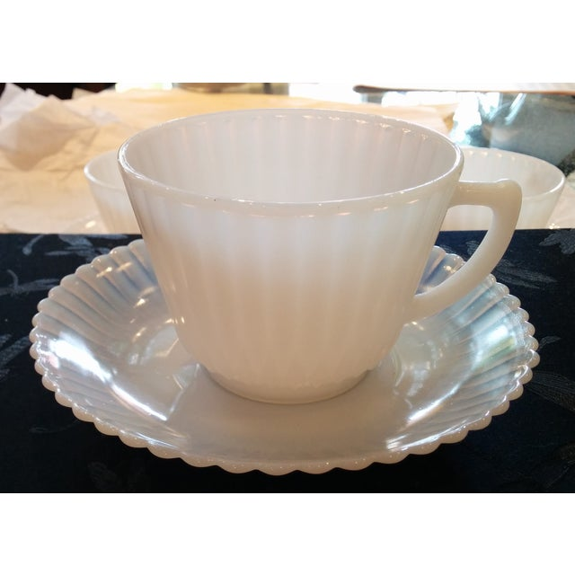 1920s Petalware Teacups and Saucers - Set of 3 - Image 4 of 9