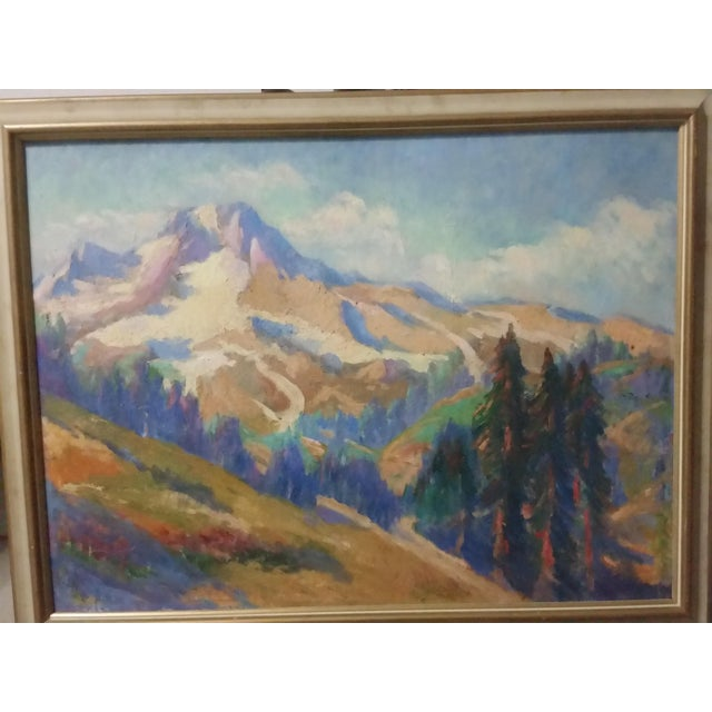 Oregon Impressionist Oil Painting of Mt. Hood - Image 8 of 8