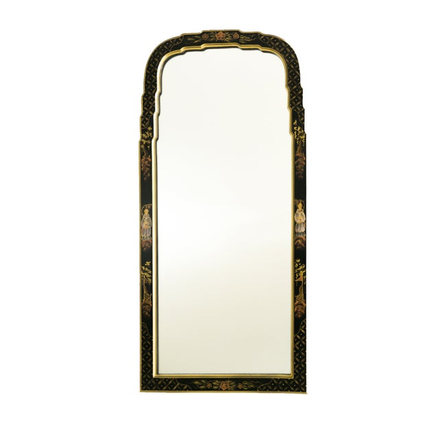 Black Lacquered Chinoiserie Chippendale Mirror - Image 1 of 8