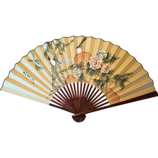 Large Hand-Painted Wall Fan