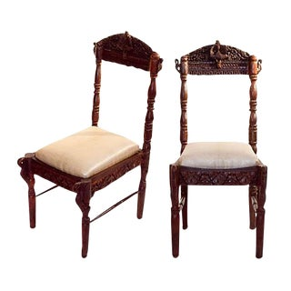 Pair of Anglo Indian Ceremonial Chairs