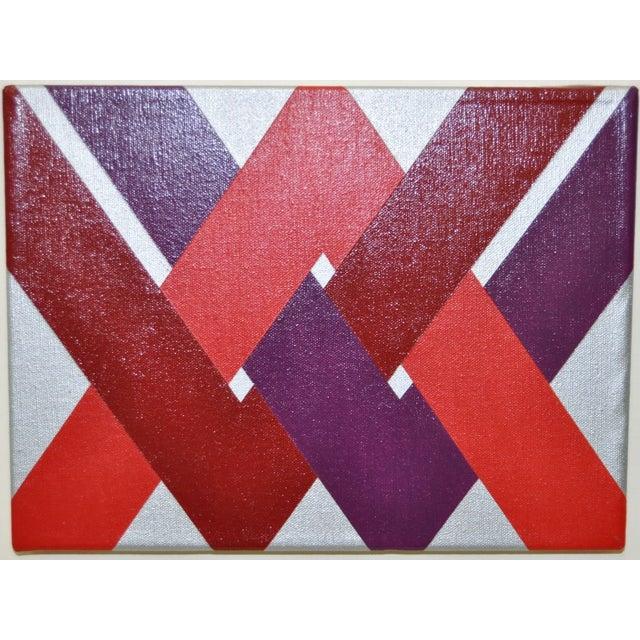 1970 Charles Hersey Vintage Op Art Painting - Image 3 of 6