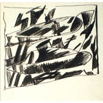 Image of Abstract Ink Drawing by J. Tofel