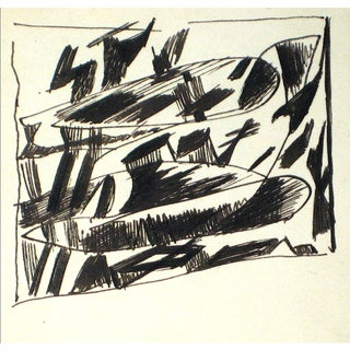 Abstract Ink Drawing by J. Tofel