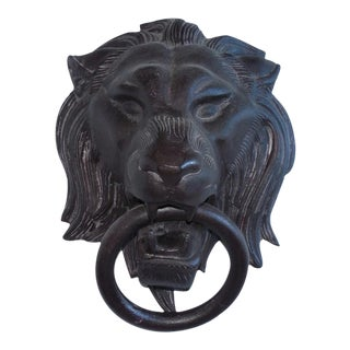 Global Views Cast Metal Lion's Head Towel Ring
