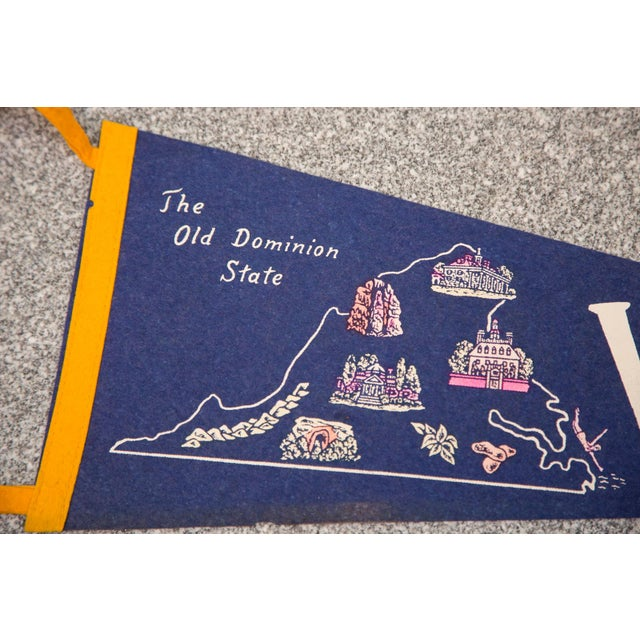 Image of Virginia Old Dominion State Felt Flag
