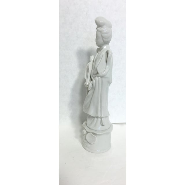 Blanc De Chine Kwan Yin Goddess Figure - Image 4 of 5