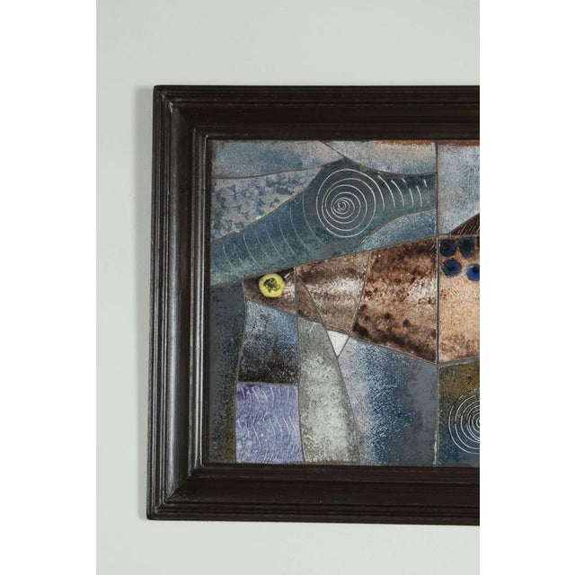 Mid-Century Framed Fish Tile - Image 3 of 7