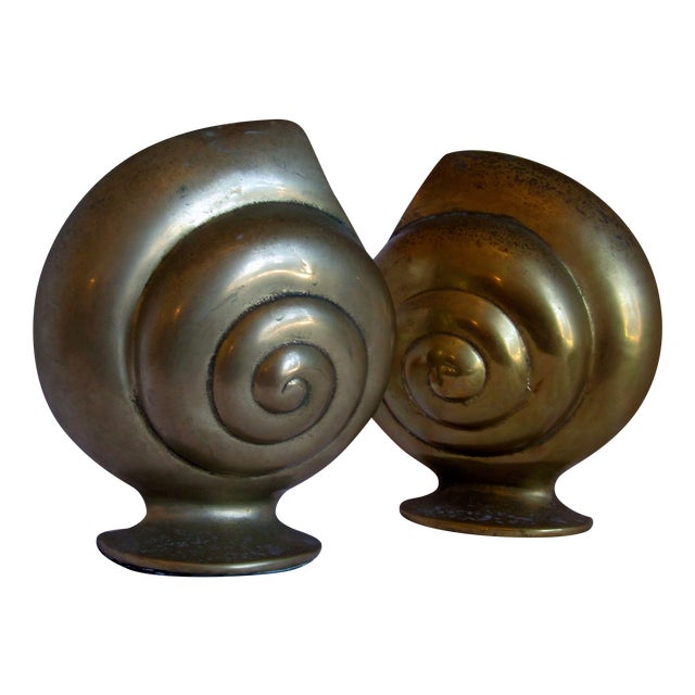 Brass Shell Bookends - Image 1 of 8