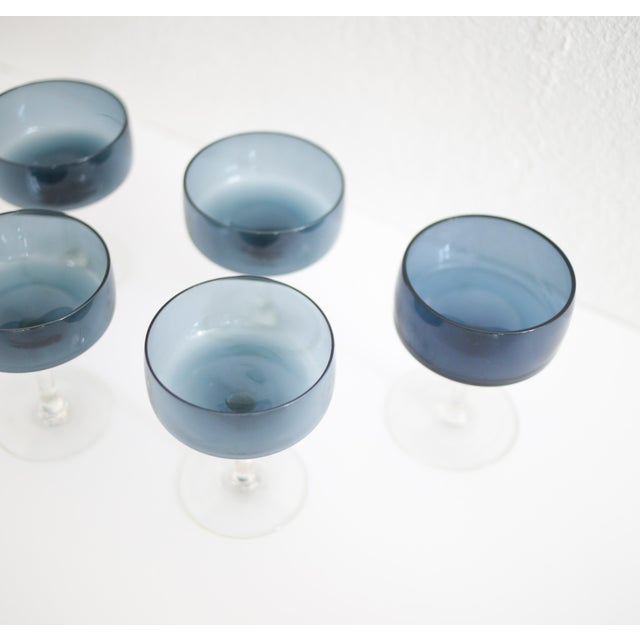 Image of Blue Cocktail Glasses - Set of 5
