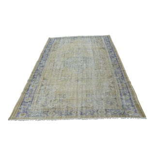 Vintage Turkish Oushak Rug - 5′7″ × 8′10″