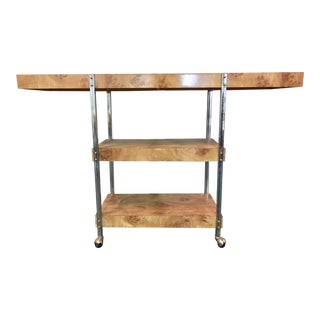 Mid-Century Three Level Console on Casters