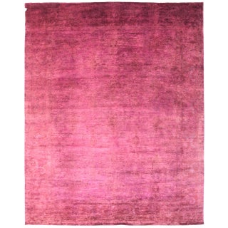 Overdyed Handknotted Ghazni Wool Rug - 10.5' × 12.9'
