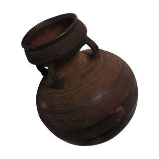 Hand Carved African Water Jug