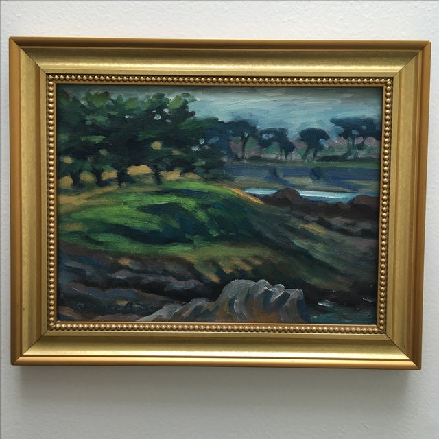 Abstract Seaside Landscape Painting Pacific Grove - Image 4 of 11