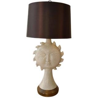Monumental Mid-Century Ceramic Sun Lamp