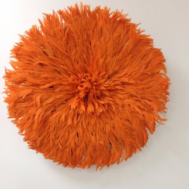 Authentic Tangerine Cameroon Juju Hat - Image 2 of 4