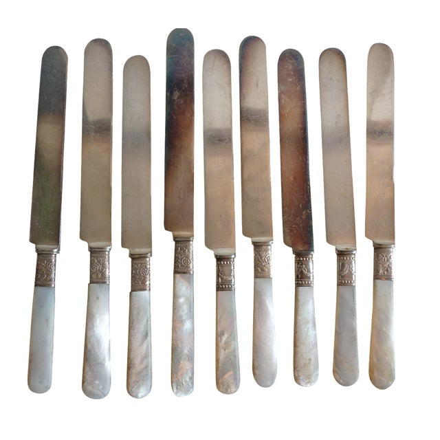 Image of Mother-of-Pearl Handle Knives - Set of 9