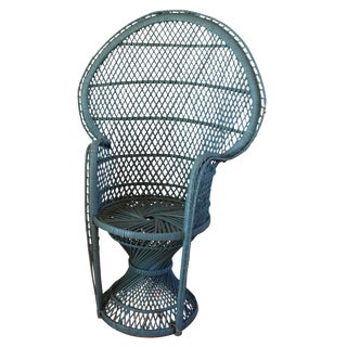 Boho Chic Child Size Peacock Fan Back Chair