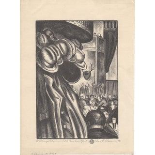 "Charles F. Ramus Etching ""Cosmopolitanism"" c.1931"