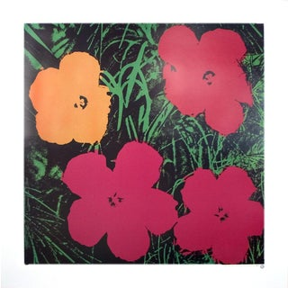 Andy Warhol-Flowers (One Orange, Three Red)-1986 Poster