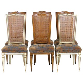 Regency Style Karges Cane Back Dining Chairs - Set of 6