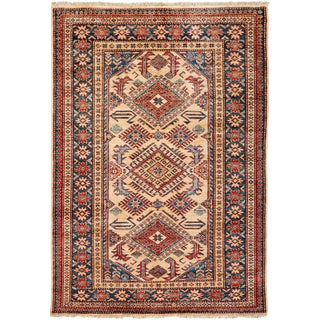 """New Kazak Hand Knotted Area Rug - 4'1"""" x 5'10"""""""