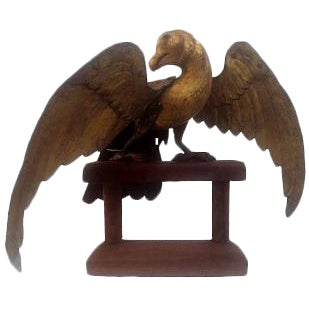 Hand-Carved Folk Art Eagle