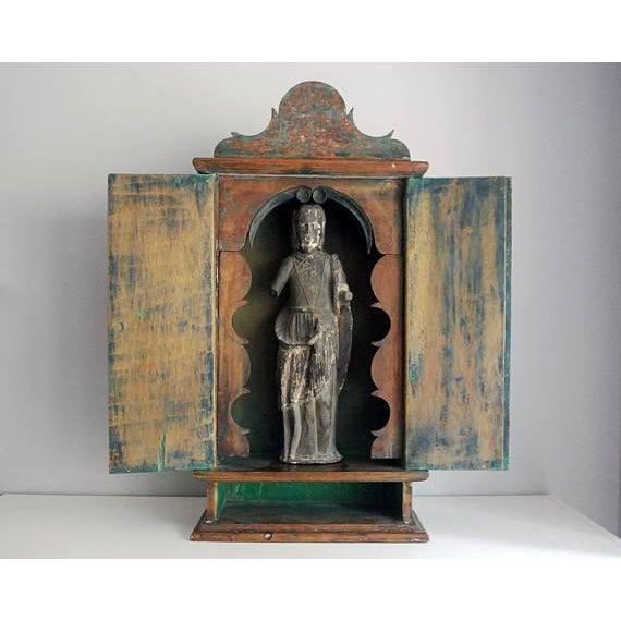 Antique 19th Century Brazilian Baroque Oratory Wood Altar Piece - Image 3 of 7