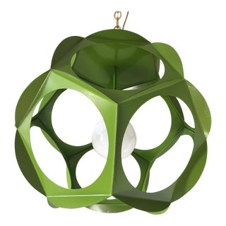 1960s Geometric Iron Pendant Light