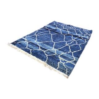 Blue Beni Ourain Moroccan Berber Rug - 6′1″ × 8′2″