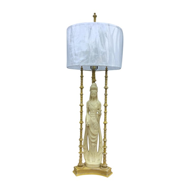 Image of 1940's James Mont Style Geisha Table Lamp