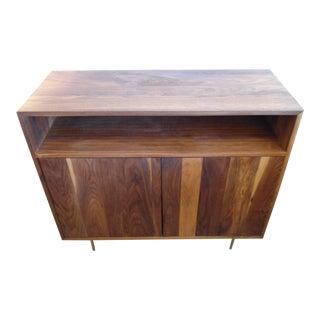 Mid-Century Modern Style Atten Open Shelf 2-Door Credenza