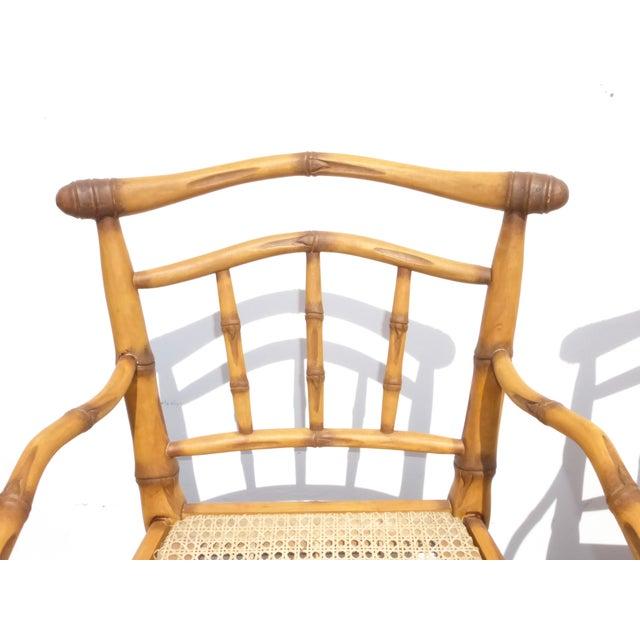 Faux Bamboo Bahama Style Bar Stools - A Pair - Image 6 of 11