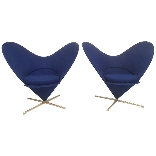 Pair Sculptural Modern Wingback Swivel Chairs - Image 4 of 6