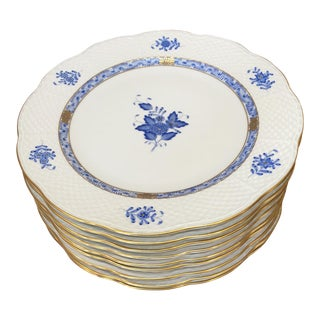 Herend Chinese Bouquet Porcelain Dinner Plates- Set of 10