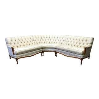 Vintage 1960's French Provincial Sectional Sofa