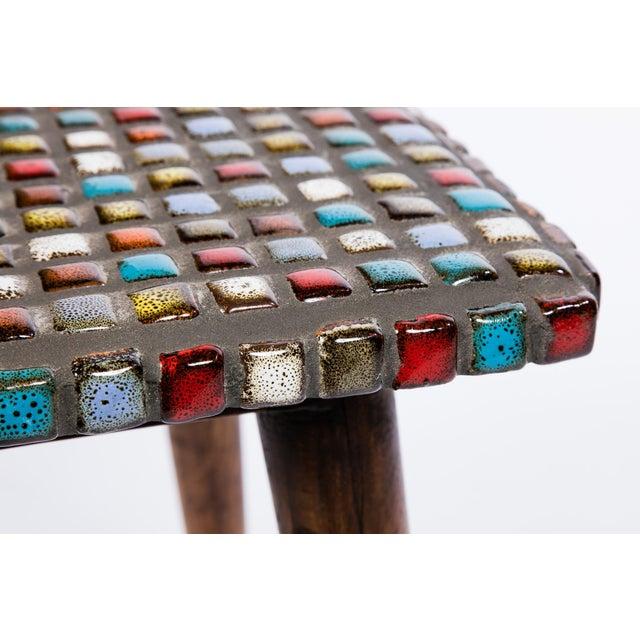 Tiled Teak Side Tables - A Pair - Image 6 of 6